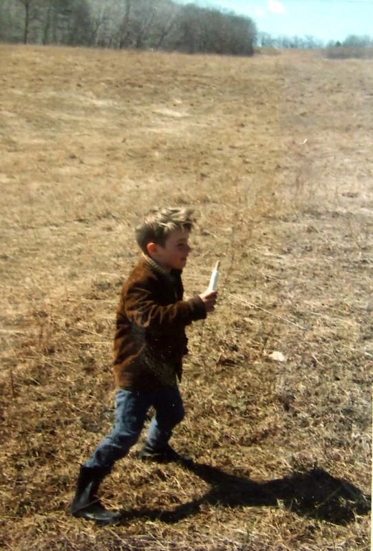 flying a kite, 1972
