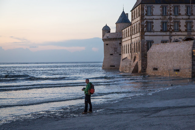Photgrapher at Mont St. Michel