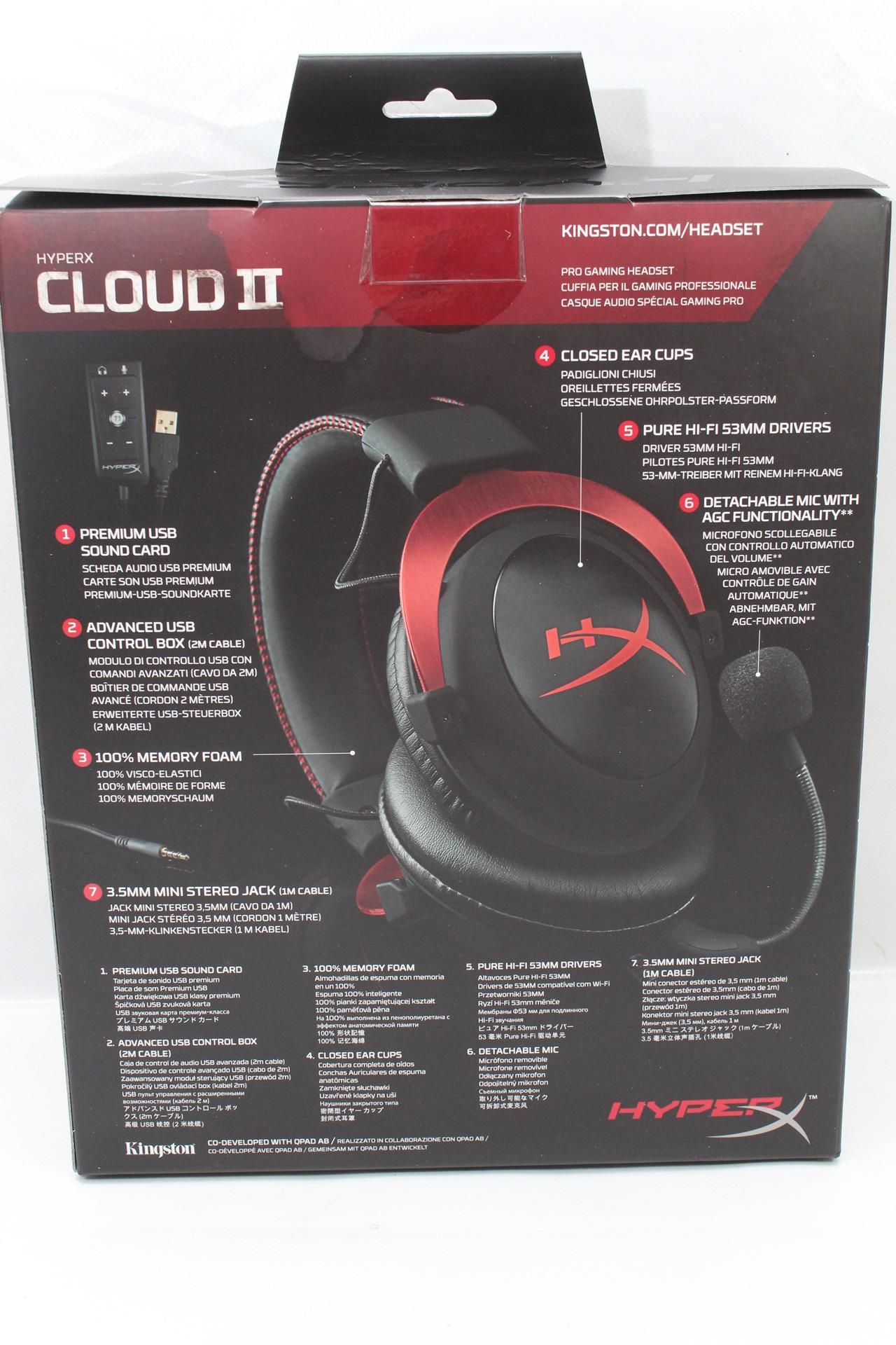 內建DSP音效卡,7.1聲道電競耳機,Kingston HyperX Cloud II更逼真的音效感受-Kingston,HyperX,金士頓,HyperX Cloud II,電競 ...