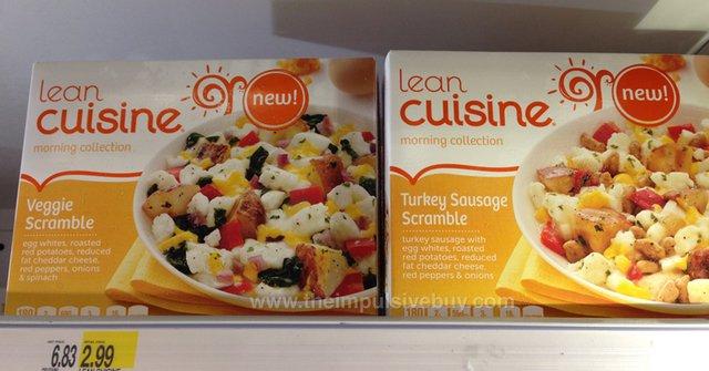 Lean Cuisine Morning Collection Veggie Scramble and Turkey Sausage Scramble