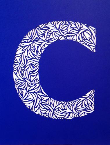 Paper Cut Letter C