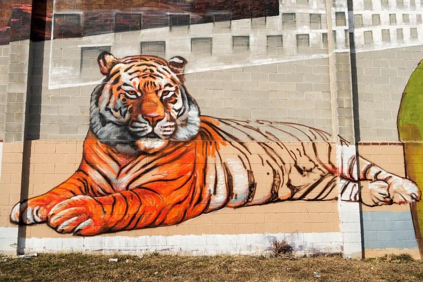 Unfinished Tiger - Mural