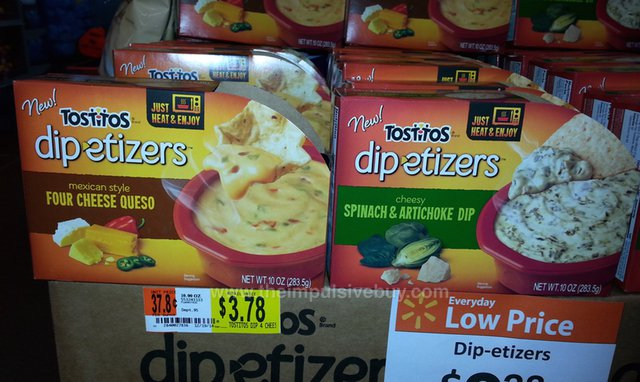 Tostitos Dip-etizers (Four Cheese Queso and Spinach & Artichoke Dip)
