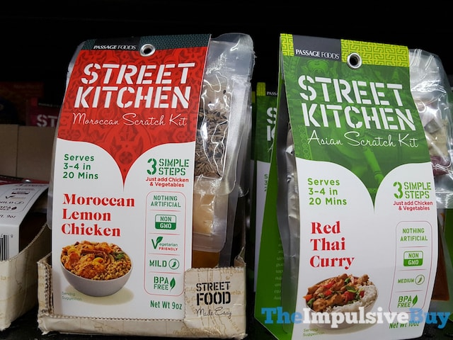 Passage Foods Street Kitchen Moroccan Lemon Chicken Moroccan Scratch Kit and Red Thai Curry Asian Scratch Kit