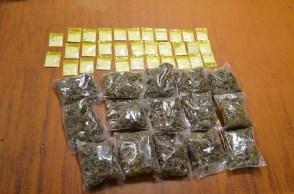Caen dos presuntos integrantes de grupo delictivo con cocaína y marihuana