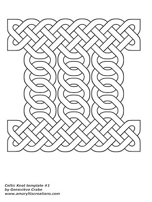 Celtic knot template 1