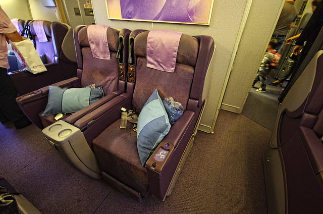 seating in business class in singapore airlines