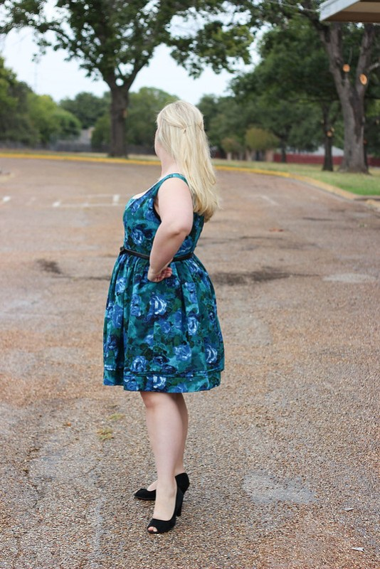 Idle Fancy - By Hand London Kim Dress - Blue Floral-1182