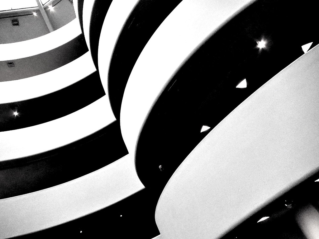 Foto gratis del Guggenheim en blanco y negro