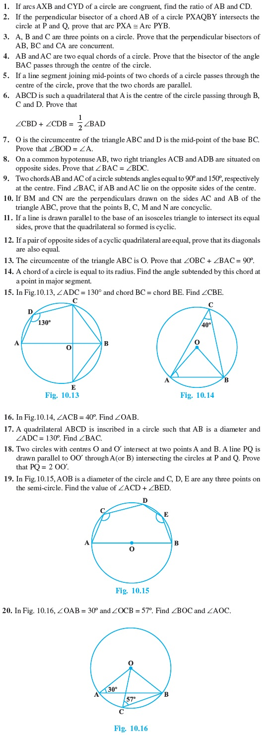 Class 9 Important Questions for Maths - Circles
