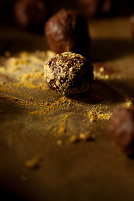 Schoko Trüffel Orange selber machen chocolate truffle