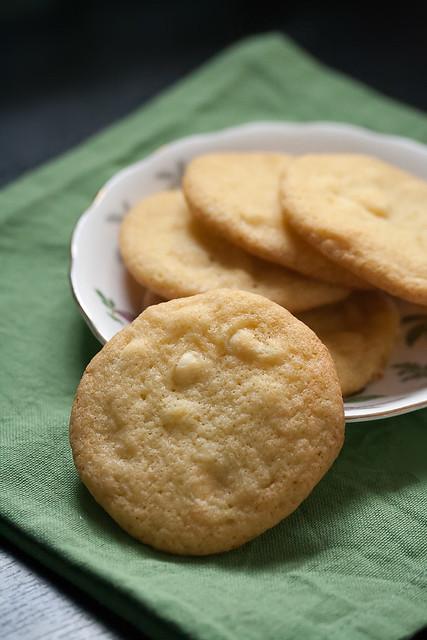 White Chocolate Grasshopper Cookies
