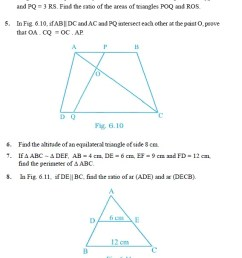 Class 10 Important Questions for Maths - Triangles   AglaSem Schools [ 1888 x 568 Pixel ]