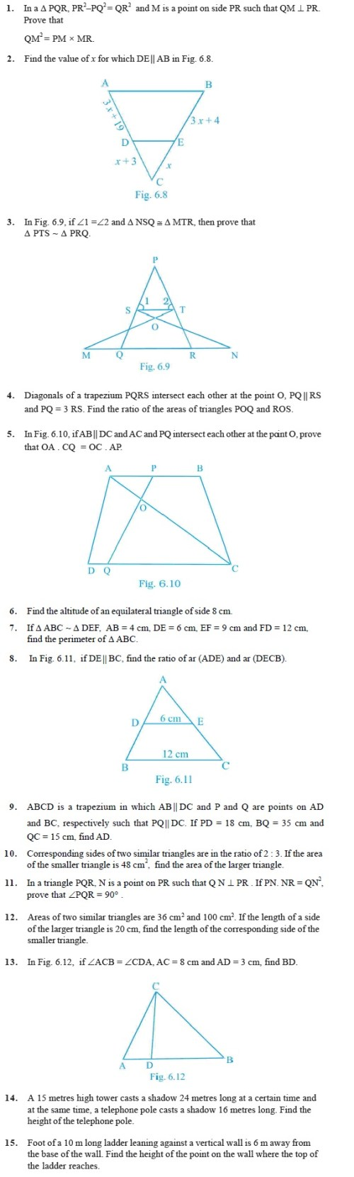 small resolution of Class 10 Important Questions for Maths - Triangles   AglaSem Schools