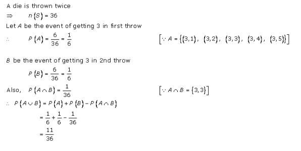 RD-Sharma-class-11 Solutions-Chapter-33-Probability-Ex-33.4-Q-11