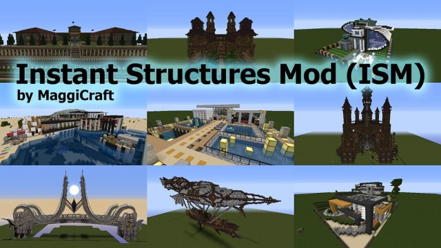 Instant Structures Mod 1.8.7, 1.8.6, 1.8.3, 1.8.1, 1.8 - ISM Mod 1.8.7