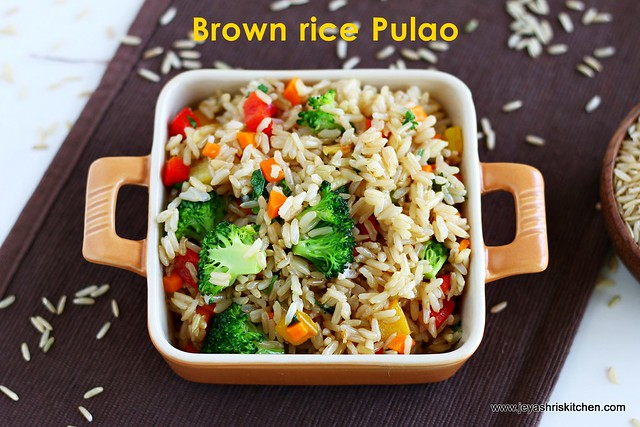 brown rice- pulao