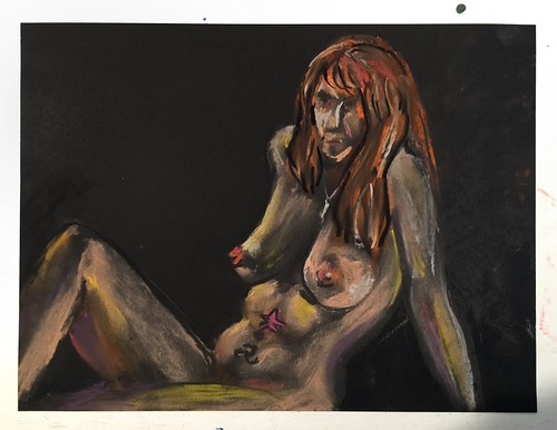 Pastel #FigureDrawing from life #20Minutes