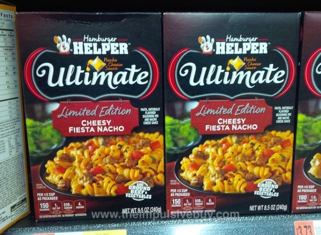 Hamburger Helper Ulitmate Limited Edition Cheesy Fiesta Nacho