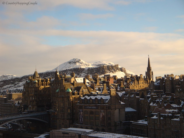 Edinburgh Snow Old Town Arthurs Seat