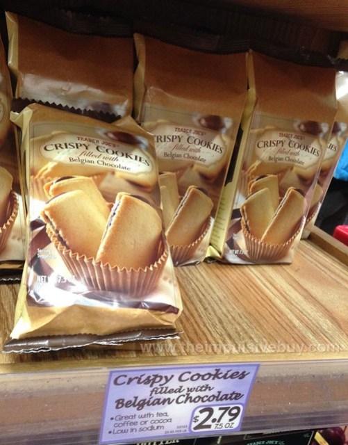 Trader Joe's Crispy Cookies filled with Belgian Chocolate