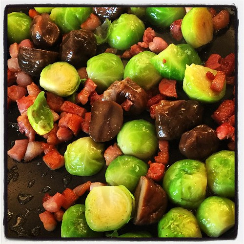 Brussels with Chestnut and Pancetta