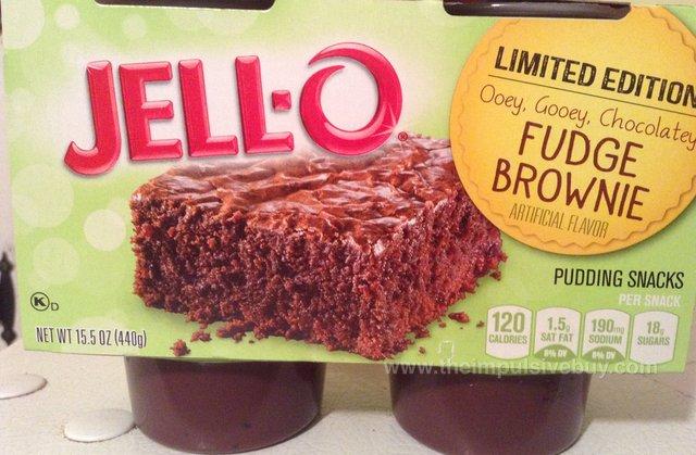 Jello Limited Edition Fudge Brownie Pudding Snacks