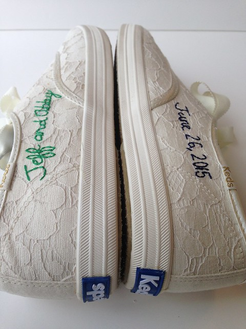 Wedding shoes. Hand embroidered Keds