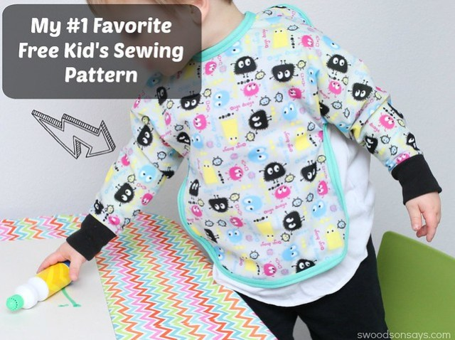 Free Kids Art Smock Pattern