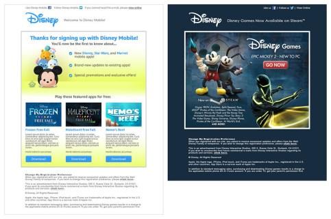 Disney Mobile + Games eBlasts