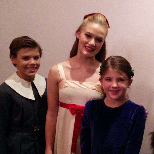 Meeting Clara! Annika will be talking about this moment for weeks... :-) Incredible show tonight!  #losangelesballet #nutcracker