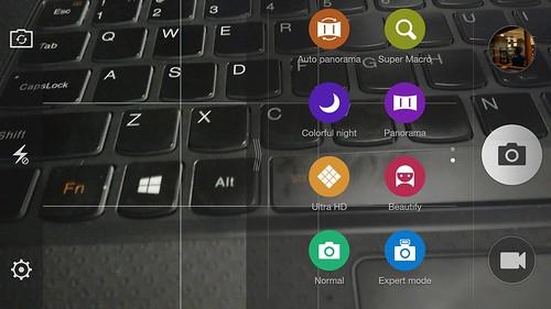User Interface กล้องของ OPPO N3
