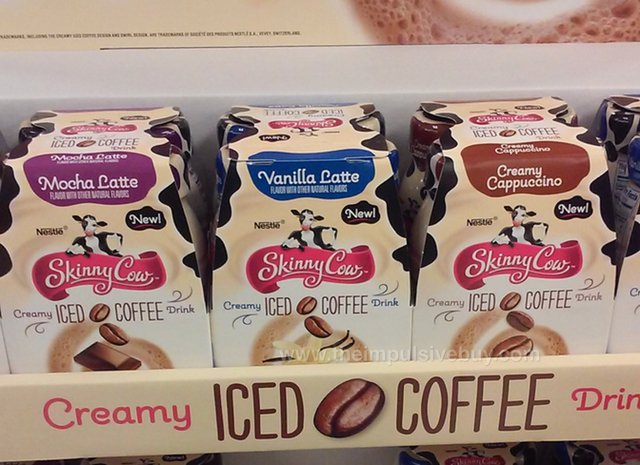Skinny Cow Creamy Iced Coffee Drink (Mocha Latte, Vanilla Latte, and Creamy Cappuccino)