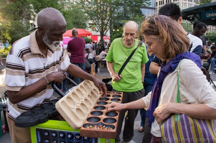 Mancala Game in Union Square New York