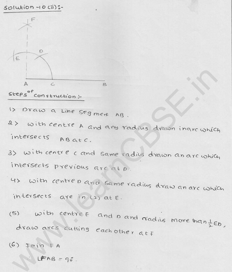 RD Sharma Class 9 solutions Chapter 17 Constructions Ex 17.2 Q 11