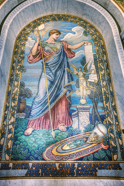 Minerva mosaic by Elihu Vedder, Library of Congress