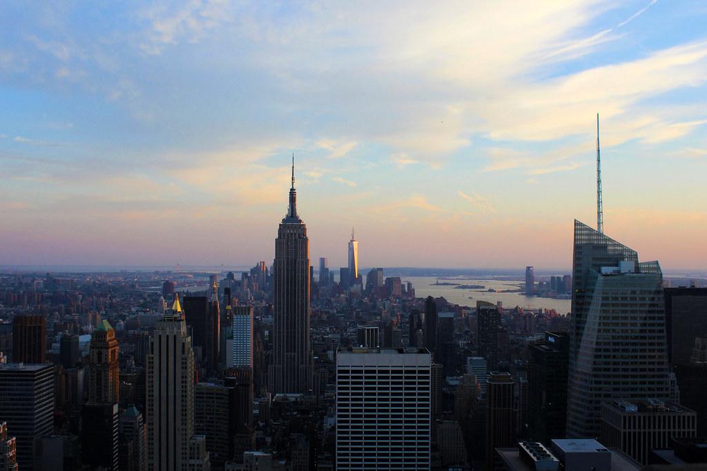 solnedgang over Manhattan
