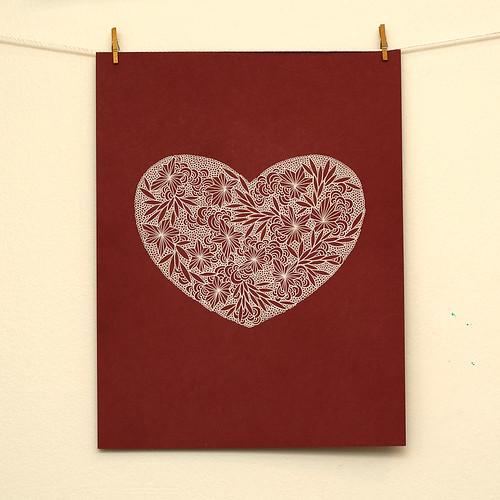 Gel pen heart
