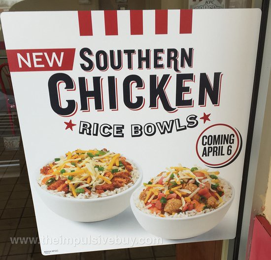 KFC Southern Chicken Rice Bowls
