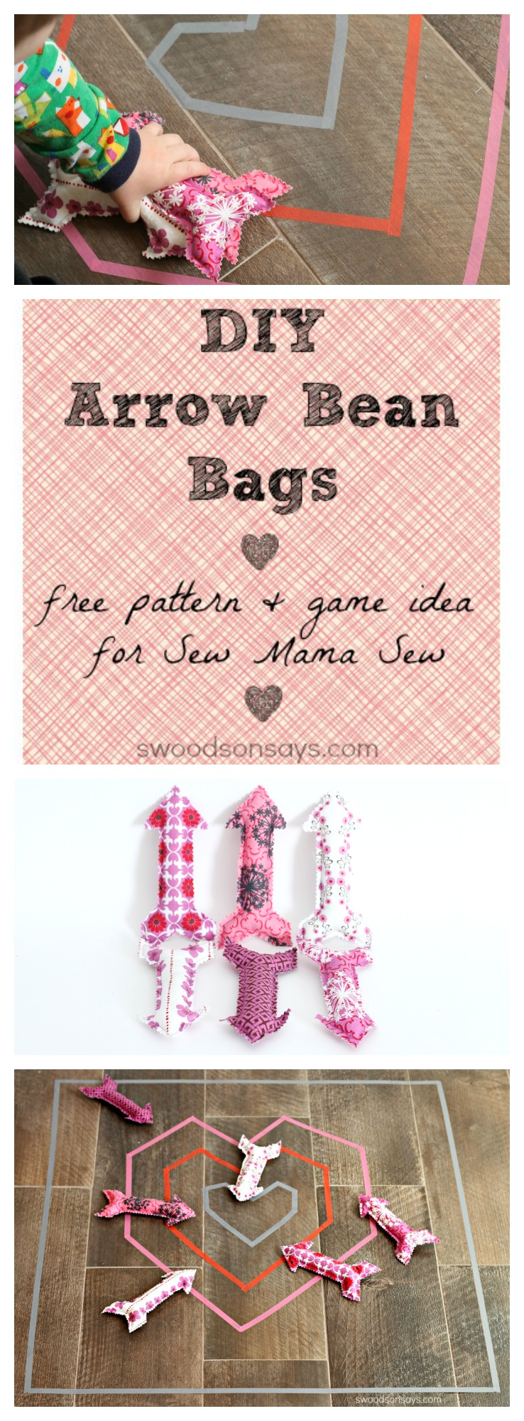 DIY Arrow Bean Bag Free Pattern