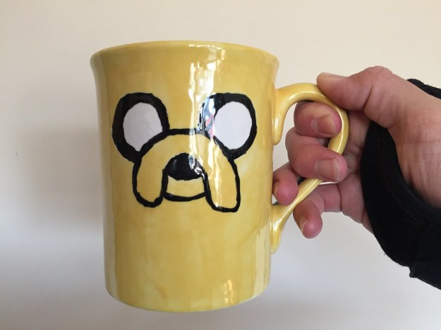 Adventure Time mug painted at Color Me Mine! Idea by reddit user /u/Just-Another-Teenage in a post by /u/Corrupt_Core