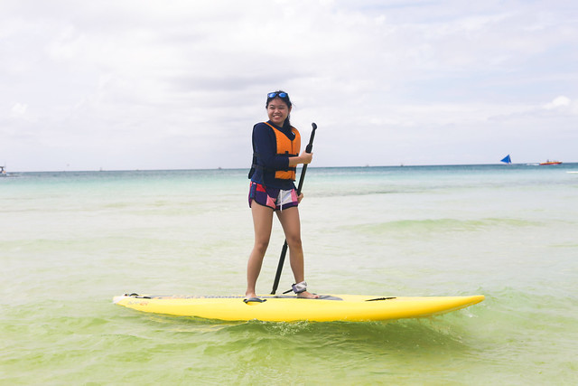 Emily paddleboarding