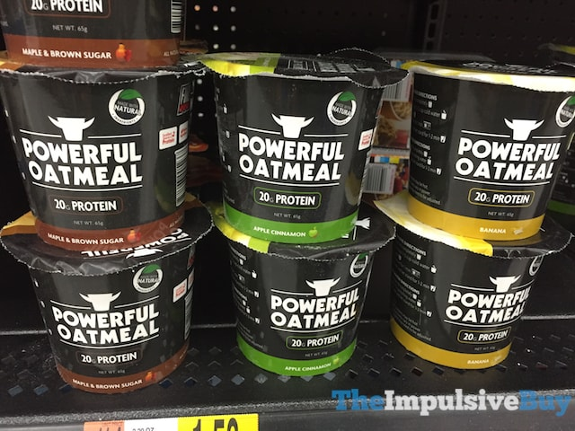 Powerful Oatmeal (Maple & Brown Sugar, Apple Cinnamon, and Banana)