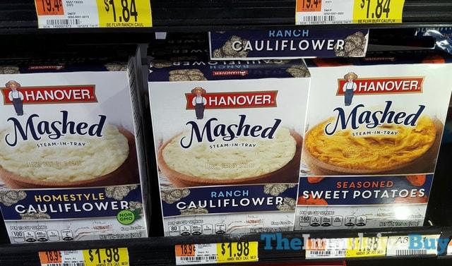 Hanover Mashed Steam-In-Tray (Homestyle Cauliflower, Ranch Cauliflower, and Seasoned Sweet Potatoes)