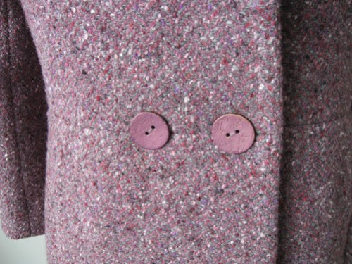 Burda Plum coat buttons