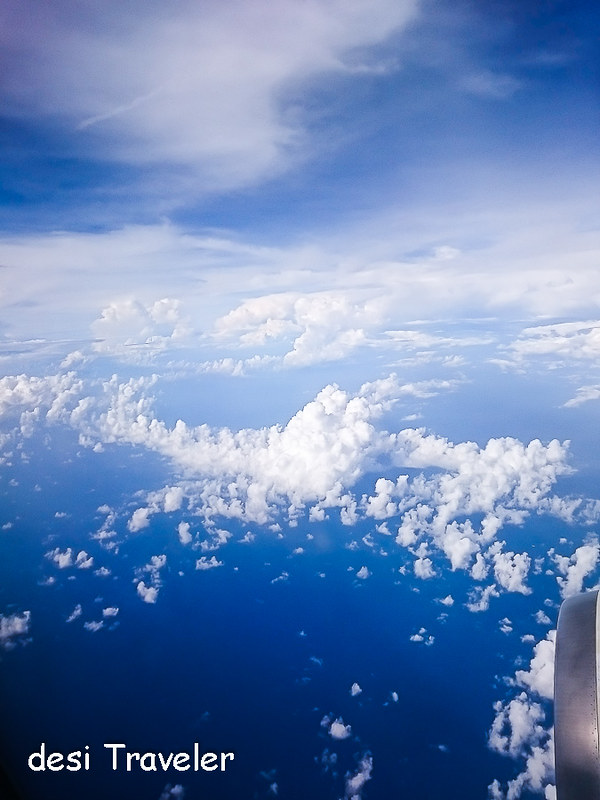 View from Jet plane above Gulf of Thailand