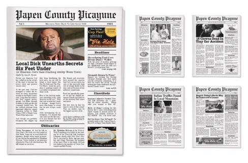 PUSHING DAISIES Interactive Newspaper