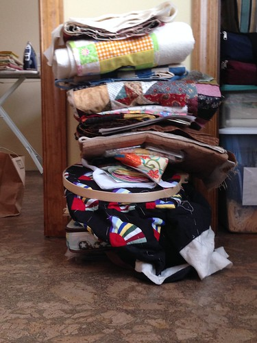 Unfinished Quilts stack