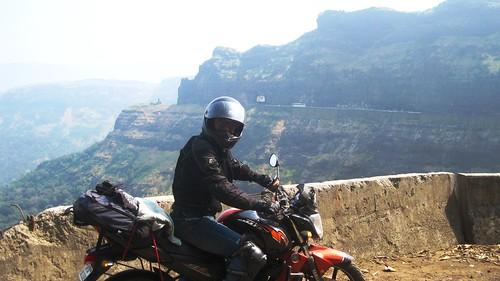 Riding to Malshej ghats, Maharshtra