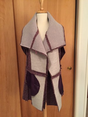 Burda plum coat inside